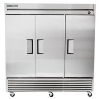 True TS-72F-HC 78 inch Stainless Steel Solid Door Reach-In Freezer