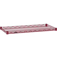 Metro HDM1448-DF Super Erecta Flame Red Drop Mat Wire Shelf - 14 inch x 48 inch