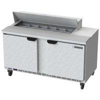 Beverage-Air SPE60HC-12 Elite Series 60 inch 2 Door Refrigerated Sandwich Prep Table