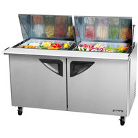 Turbo Air TST-60SD-24-SL 60 inch 2 Door Mega Top Sliding Lid Refrigerated Sandwich Prep Table
