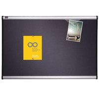 Quartet B443A 36 inch x 24 inch Prestige Bulletin Board with Diamond Mesh Fabric and Aluminum Frame