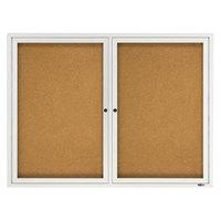 Quartet 2364 48 inch x 36 inch Silver Enclosed Aluminum Bulletin Board