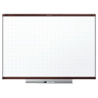 Quartet TE543MP2 36 inch x 24 inch Prestige 2 Total Erase Dry Erase Board with Mahogany-Colored Frame