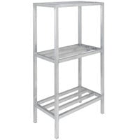 Channel ED2442-3 42 inch x 24 inch x 64 inch Three Shelf Aluminum Dunnage Shelving Unit - 2200 lb. capacity