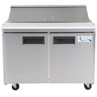 Avantco APT-48-HC 48 inch 2 Door Refrigerated Sandwich Prep Table