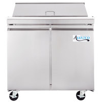 Avantco SS-PT-36-HC 36 inch 2 Door Stainless Steel Refrigerated Sandwich Prep Table