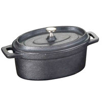 American Metalcraft CIPOV6040 6 inch x 4 inch Oval Cast Iron Mini Pot