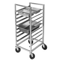 Channel ETPR-3E3 8 Pan End Load Aluminum Steam Table Pan Rack - Assembled