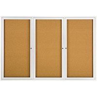 Quartet 2367 72 inch x 48 inch Silver Aluminum Enclosed Cork and Fiberboard Bulletin Board