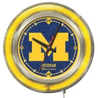 Holland Bar Stool Clk15MichUn University of Michigan 15 inch Neon Clock