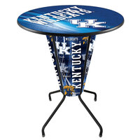 Holland Bar Stool L218B42Kentky36RUKY-UK-D2 University of Kentucky 36 inch Round Bar Height LED Pub Table