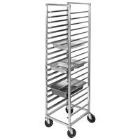 Channel ETPR-5E6 11 Pan End Load Aluminum Steam Table Pan Rack - Assembled