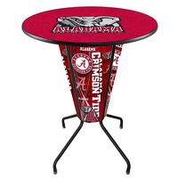 Holland Bar Stool L218B42Alabma36RAL-Ele University of Alabama 36 inch Round Bar Height LED Pub Table