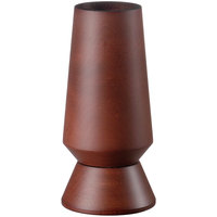 Fletchers' Mill COL06SM46 Columbia 6 inch Mahogany Stain Wooden Upside Down Salt Mill