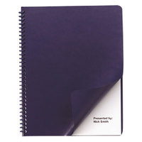 Swingline GBC 2000711 11 1/4 inch x 8 3/4 inch Navy Leather-Look Binding System Cover - 200/Box