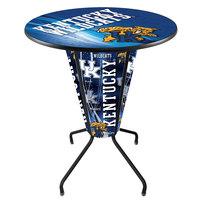 Holland Bar Stool L218B42Kentky36RUKYCat-D2 University of Kentucky 36 inch Round Bar Height LED Pub Table