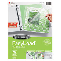 Wilson Jones 21439 EasyLoad 8 1/2 inch x 11 inch Side / Top Loading Sheet Protector - Letter - 25/Pack