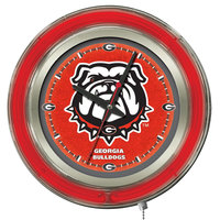 Holland Bar Stool Clk15GA-Dog University of Georgia 15 inch Neon Clock