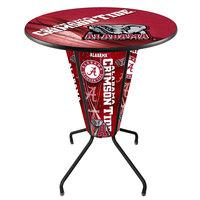 Holland Bar Stool L218B42Alabma36RAL-Ele-D2 University of Alabama 36 inch Round Bar Height LED Pub Table