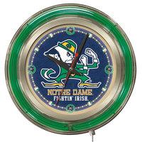 Holland Bar Stool Clk15ND-Lep University of Notre Dame 15 inch Neon Clock