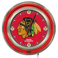 Holland Bar Stool Clk15ChiHwk Chicago Blackhawks 15 inch Neon Clock