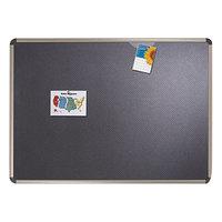Quartet B363T Prestige 36 inch x 24 inch Euro-Style High-Density Foam Bulletin Board with Black Aluminum Frame