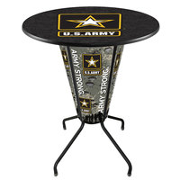 Holland Bar Stool L218B42Army36RArmy United States Army 36 inch Round Bar Height LED Pub Table