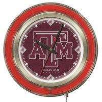 Holland Bar Stool Clk15TexA-M Texas A&M 15 inch Neon Clock