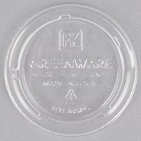 Fabri-Kal Greenware GXL345PC 3.25-4 oz. Compostable Clear Plastic Souffle / Portion Cup Lid - 125/Pack