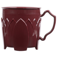 Dinex DX500061 Fenwick 8 oz. Cranberry Insulated Mug - 48/Case
