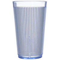 Carlisle 403314 Crystalon RimGlow 12 oz. Ocean Blue Polycarbonate Tumbler - 48/Case