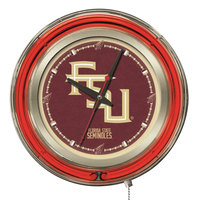 Holland Bar Stool Clk15FSU-FS Florida State University 15 inch Neon Clock