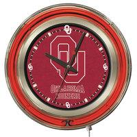 Holland Bar Stool Clk15Oklhma University of Oklahoma 15 inch Neon Clock