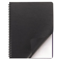 Swingline GBC 2001712 11 1/4 inch x 8 3/4 inch Black Leather-Look Binding System Cover - 50/Pack