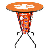 Holland Bar Stool L218B42Clmson36RClmson Clemson University 36 inch Round Bar Height LED Pub Table