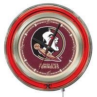 Holland Bar Stool Clk15FSU-HD Florida State University 15 inch Neon Clock
