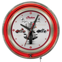 Holland Bar Stool Clk15Indn-Multi Indian Motorcycle 15 inch Neon Clock