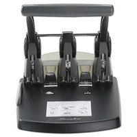 Swingline 74194 300 Sheet High-Capacity Black and Gray 3 Hole Punch - 9/32 inch Holes