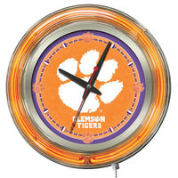 Holland Bar Stool Clk15Clmson Clemson University 15 inch Neon Clock