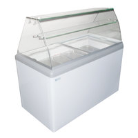 Excellence HBG-7 43 inch Seven Pan Gelato Dipping Cabinet