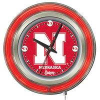 Holland Bar Stool Clk15NebrUn University of Nebraska 15 inch Neon Clock