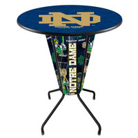 Holland Bar Stool L218B42NotreD36RND-ND University of Notre Dame 36 inch Round Bar Height LED Pub Table