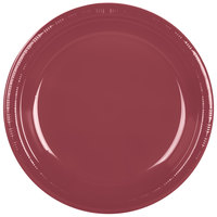 "Creative Converting 28312231 10"" Burgundy Plastic Plate - 20/Pack"