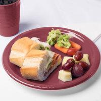 Creative Converting 28312231 10 inch Burgundy Plastic Plate - 20/Pack