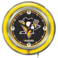Holland Bar Stool Clk15PitPen Pittsburgh Penguins 15 inch Neon Clock