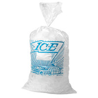 10 lb. Plastic Ice Bag with Blue ICE logo 1000 / Bundle