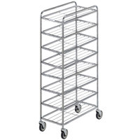 Channel UC0708 Chrome Plated Eight Shelf Mobile Rack 67 inch x 16 inch x 33 inch
