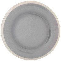 Thunder Group DM012H Graham 11 3/4 inch Round Gray Melamine Plate with Ivory Edge - 12/Case