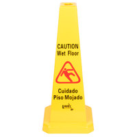 Lavex Janitorial 27 inch Caution Wet Floor Cone-Shaped Sign
