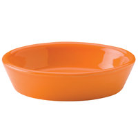 Hall China 30570325 Tangerine 6 oz. Colorations Oval Baker Dish - 24/Case